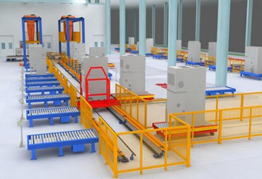 Automatic assembling and testing production line of GIS gas insulated switchgear