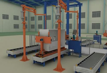 Automatic assembling and testing production line of Ring Main Unit Switchgear