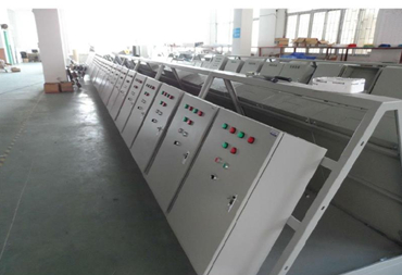 Production line of electricity distribution cabinet or box
