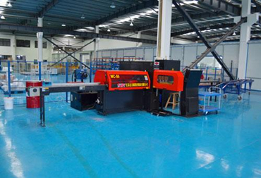 Production line of copper busway